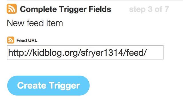 IFTTT - Feed Trigger
