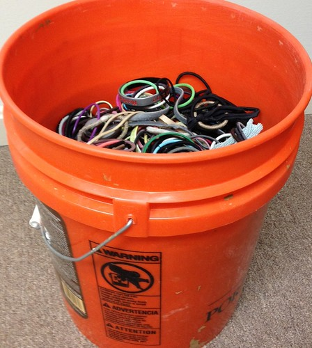 Bucket of Hair ties