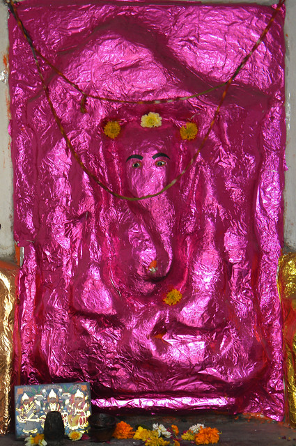 a pink Ganesh in Udaipur, India