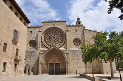 Sant Cugat del Vallès. Former monastery. Facade