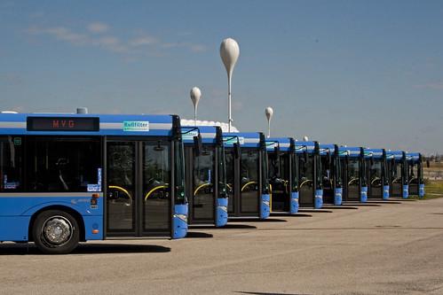 Bald bekommen sie erneut Zuwachs: Die MVG bestellt 12 neue Buszüge, 18 Gelenkbusse und 18 Solobusse