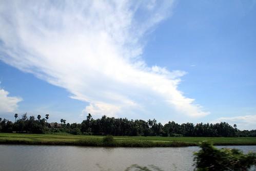sky india clouds pond chennai tamilnadu ind