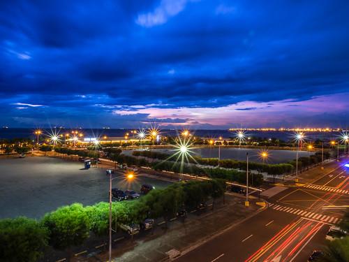 longexposure nightphotography sunset night cityscape cloudy philippines bluesky manila bluehour pasaycity 12mmf20 olympusomdem5