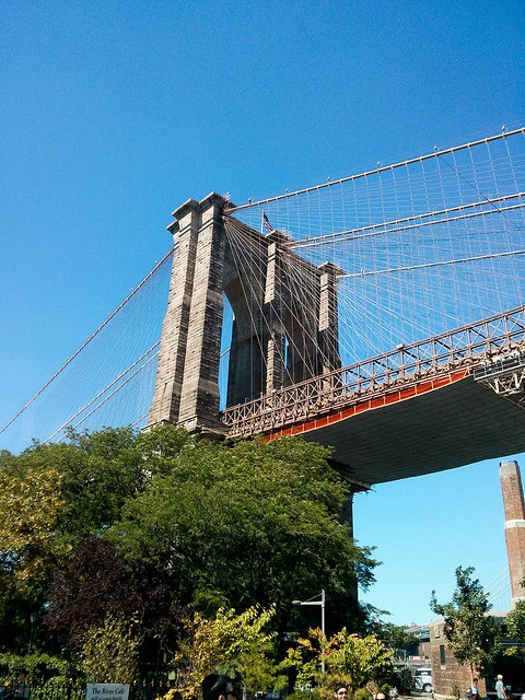 Brooklyn Bridge From Below | New York City, USA