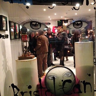 The opening of #bristolcan at @upfest gallery in Bristol. Show continues until almost the end of the month. Email me via the email on my header for more details.
