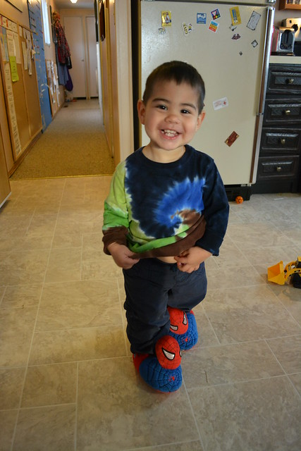 Munchkin in Spiderman Slippers 2