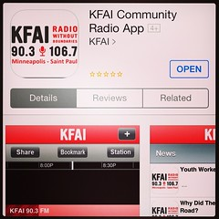 At KFAI Radio with @DanamiPics for @SoulTools Radio. Download the #KFAI app & listen along...   #soultools