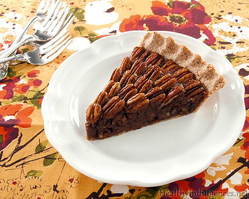 low-sugar-carb-pecan-pie-slice-paleo-dessert--no-corn-syrup-gluten-free-almond-flour-crust-recipe-diet-stevia