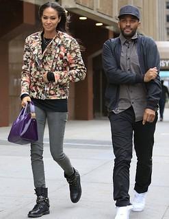 Joan Smalls Floral Bomber Jacket Celebrity Style Women's Fashion