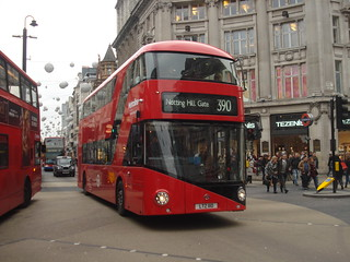 Metroline LT110 on Route 390, Oxford Circus