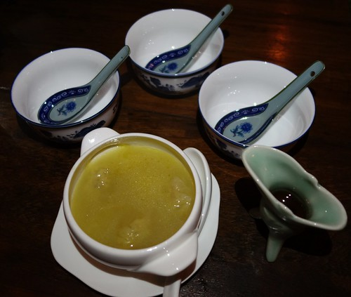 Jiu Zhuang Double Boiled Soup with dumplings and premium Nu Er Hong