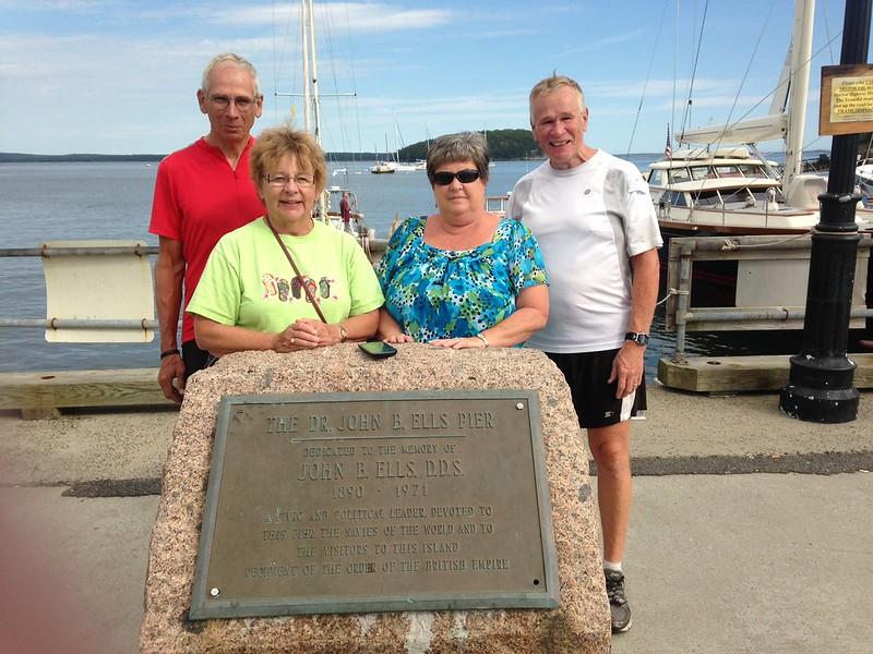 Dad, Mom, Melinda, and Ray after crossing the USA by bike