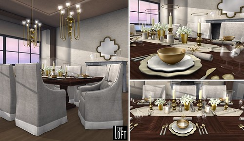 The Loft - Villa Casolare Dining Room Griege