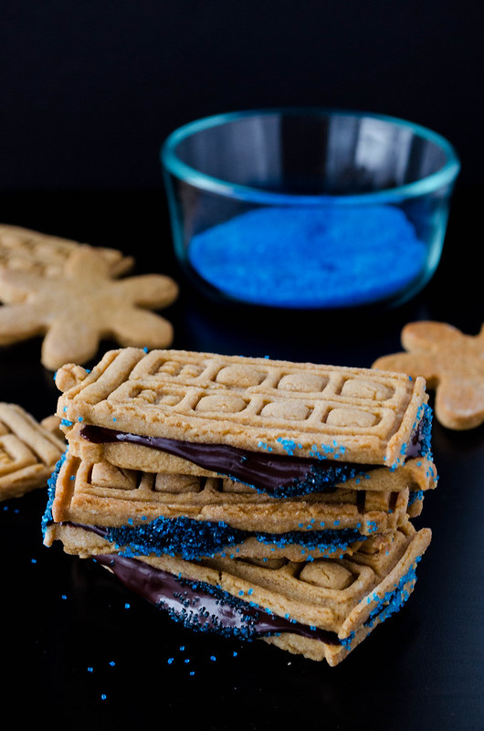 Peanut Butter Sandwich Cookies with Ganache Filling   cooking ala mel