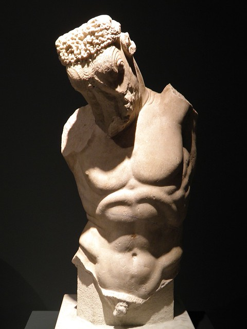 Torso of the Minotaur, late 1st century AD Roman copy of 5th century BC Greek original, from Rome, Palazzo Massimo alle Terme