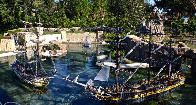 Legoland, Florida - Miniland - Pirate ships