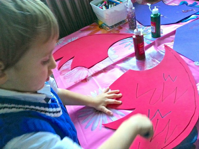 Decorating home-made dragon wings #cbias #shop