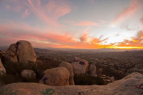california sunset mountain unitedstates santee bluerock