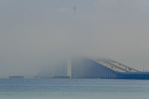 Marine Layer rolling through Sunshine Skyway Bridge - Timelapse 2/11