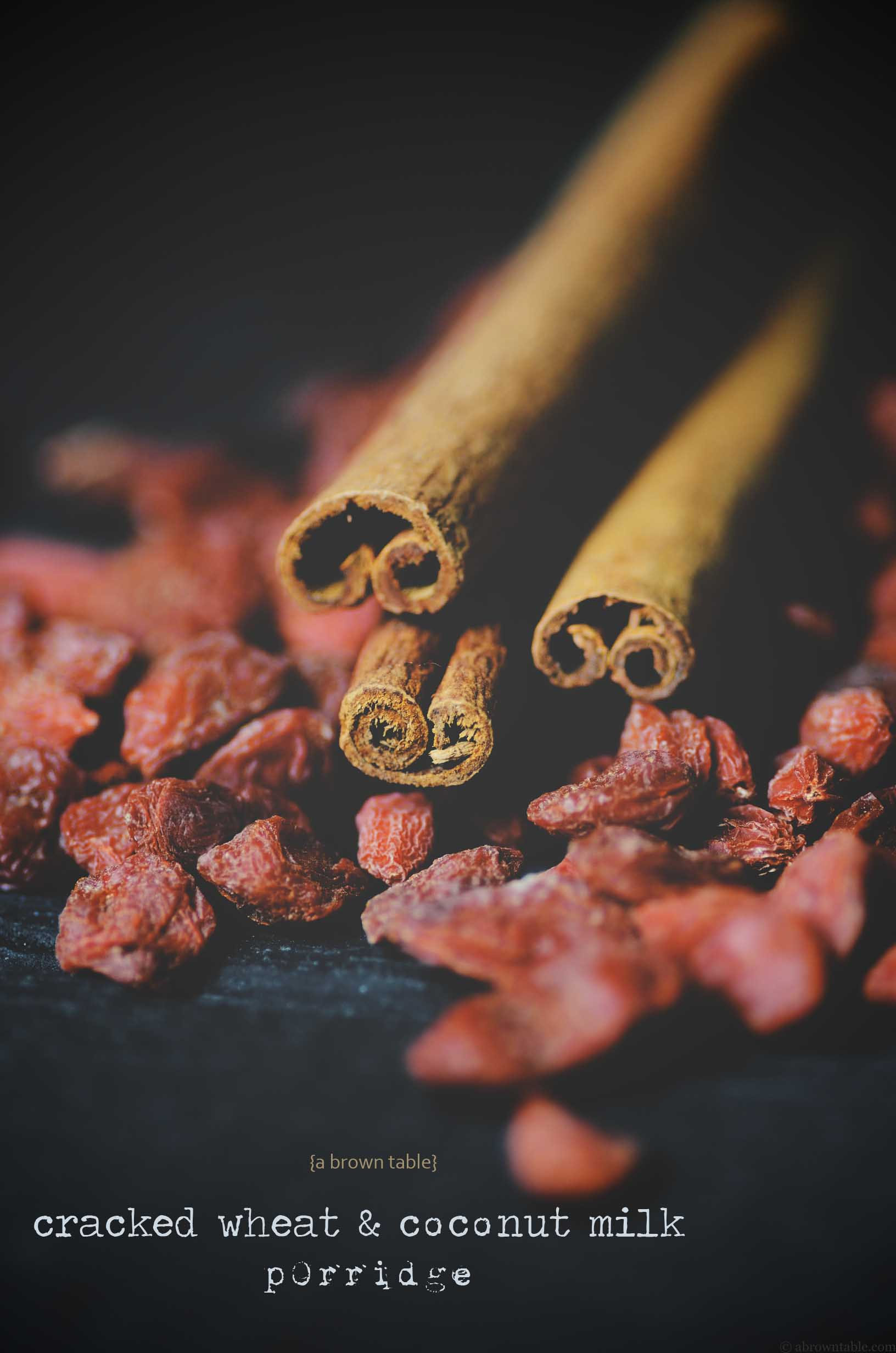 cinnamon and goji berries