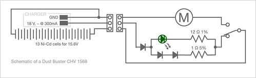 Handheld vacuum schematic