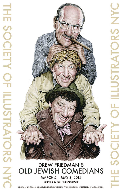 Drew Friedman: Old Jewish Comedians at the Society of Illustrators NYC