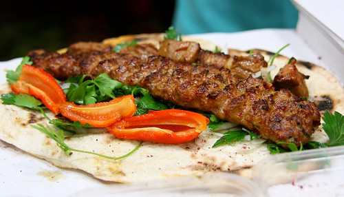 Mixed kebab (Adana and shish meat)