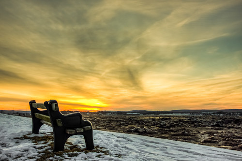 sunset canada bench novascotia view tide low hantsport
