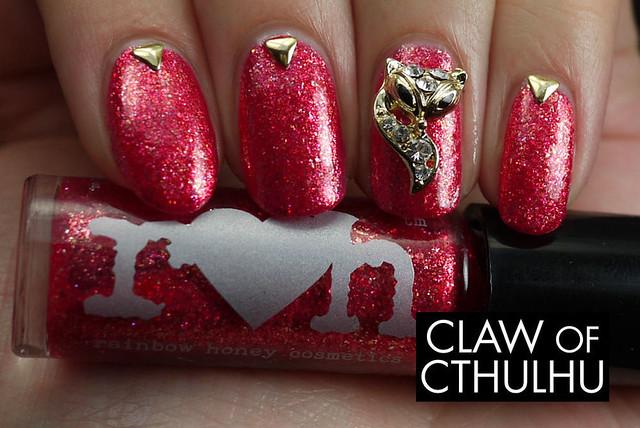 Rainbow Honey Persephone Swatch (with Born Pretty Store nail art supplies)