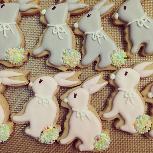 Bunny sugar cookies #polkadotscupcakefactory