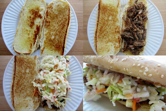 52 sandwiches #25: pulled beef + coleslaw