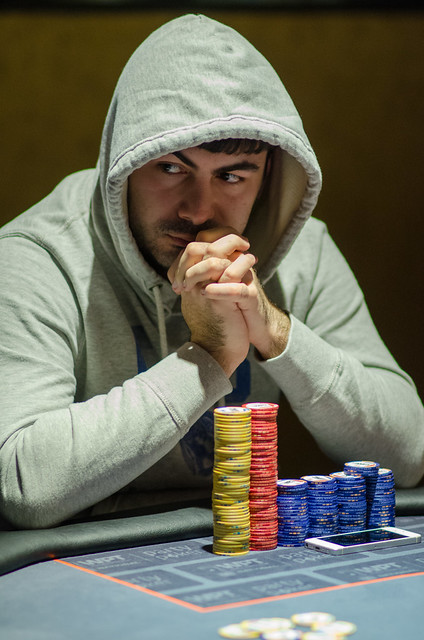 poker player at table