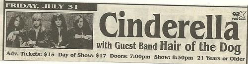 07/31/98 Cinderella/ Hair of the Dog @ Medina Entertainment Center, Medina, MN