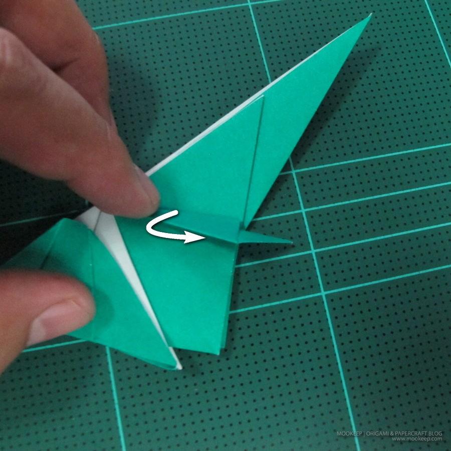 วิธีพับกระดาษเป็นรูปหมู (Origami Pig) 020