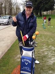 Lancio Sky Sport HD canale golf al golf club milano al paco di monza con la golf clinic di Costantino Rocca e Matteo Manassero campioni nazionali insieme a Federico Luperi direttore di Adnkronos
