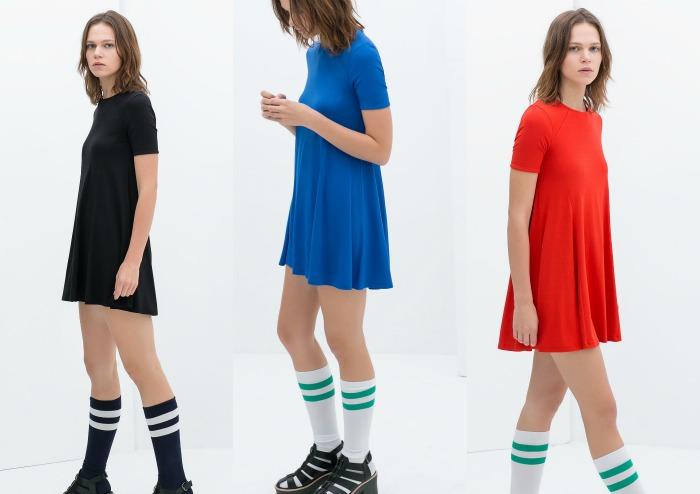 vestidos zara medias deporte