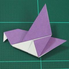วิธีพับกระดาษเป็นนกพิราบแบบง่าย (Easy Origami Pigeon) 011
