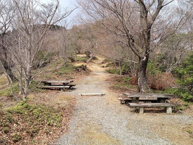 池田山 登山道 いばらの小径 ベンチ