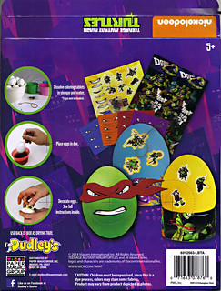 "Dudley's Easter :: Nickelodeon ""TEENAGE MUTANT NINJA TURTLES"" EASTER EGG DECORATING KIT // .. box ii (( 2014 ))"