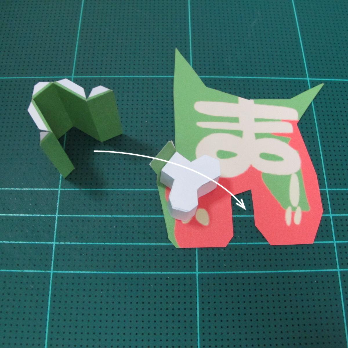 วิธีทำโมเดลกระดาษตุ้กตา คุกกี้ รัน คุกกี้รสซอมบี้ (LINE Cookie Run Zombie Cookie Papercraft Model) 019