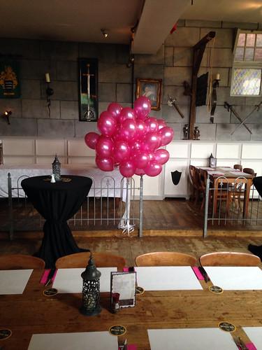 Heliumballonnen Fuchsia Wapen van Poortugaal