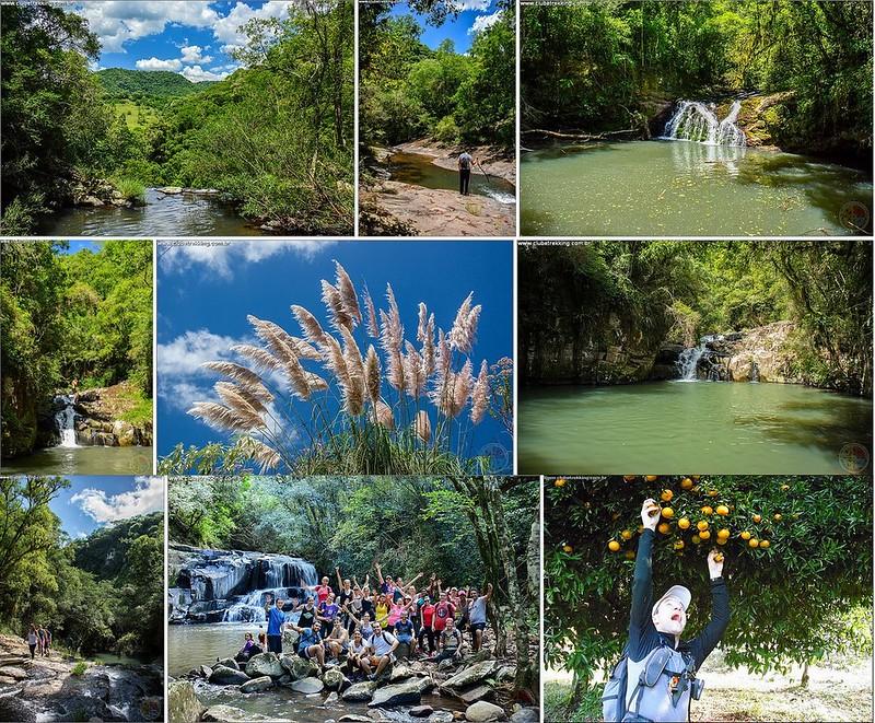 Cachoeiras do Arroio Taboão em Itaara RS