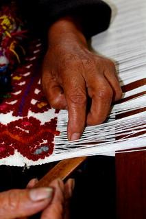 Maria Meza Guzman hand weaving
