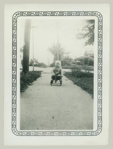 Child and wagon