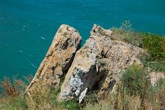 Rocks above the sea