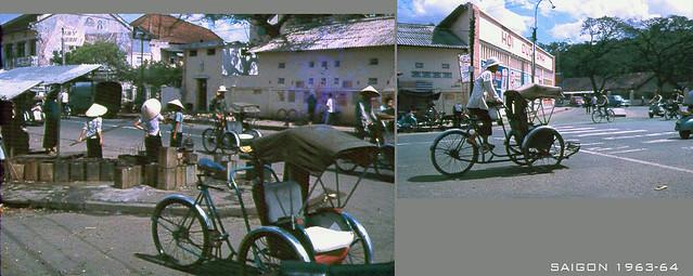 SAIGON 1963-64 - Photo by Jack 'CJ' Waer - Ngã năm Chợ Thái Bình