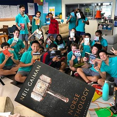 Spring break readers. These guys are winning. Will miss you, #8PGu. Be good and stay happy. #uwcsea_east #booklove #reading
