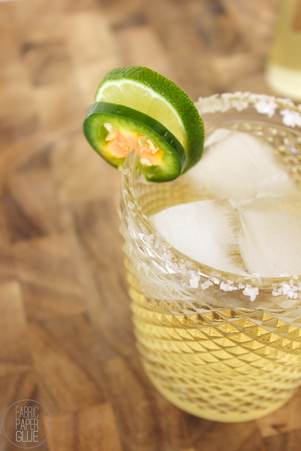 Fabric Paper Glue | Margarita with Jalapeño Simple Syrup2