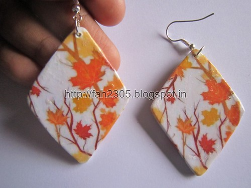 Handmade Jewelry - Card Paper Earrings  (Album 3) (30) by fah2305