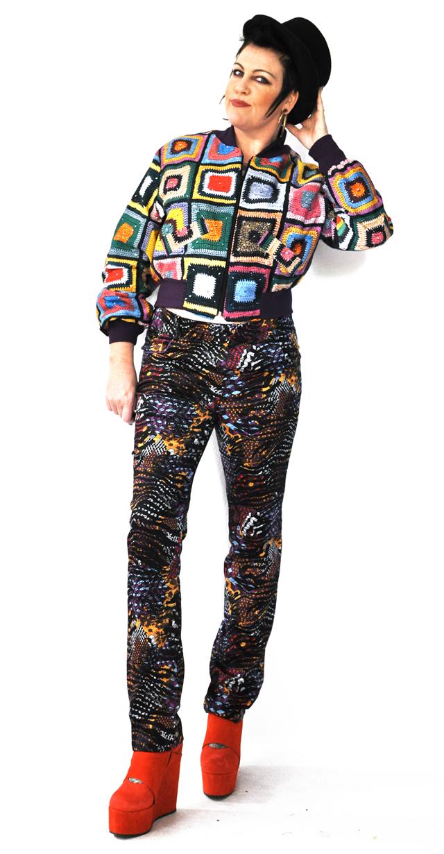 Kazzthespazz.com | Crochet Bomber Jacket